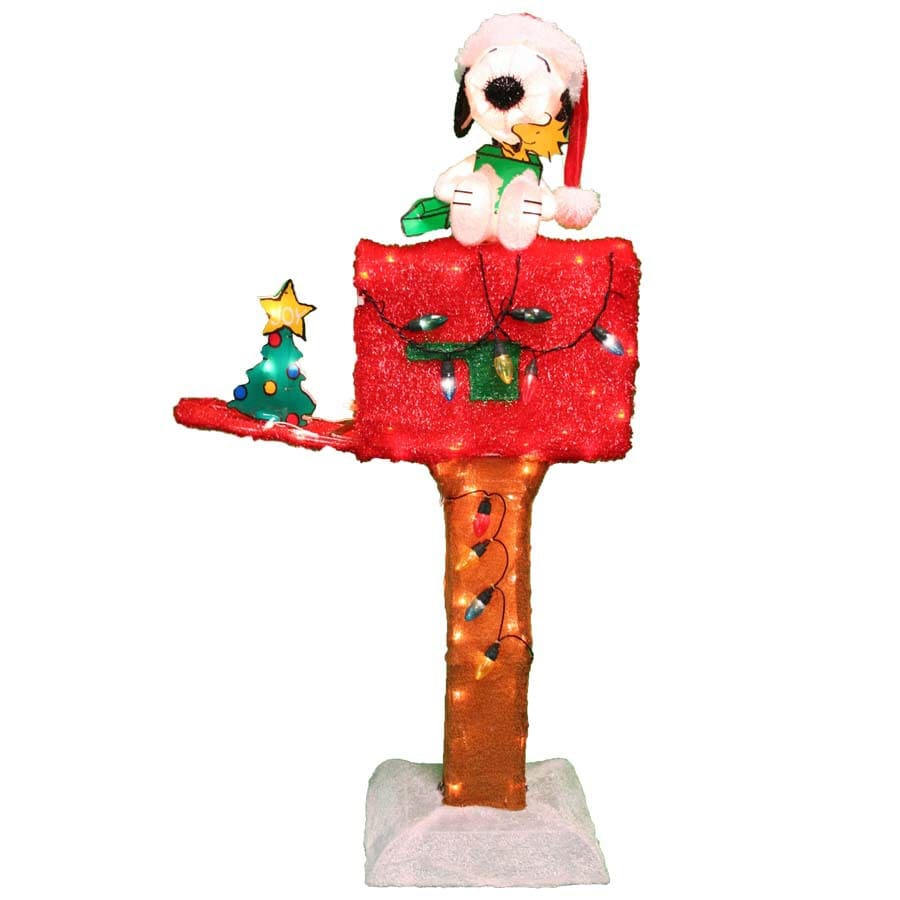 peanuts pre lit snoopy and woodstock sculpture with constant white lights - Lowes Outdoor Christmas Decorations