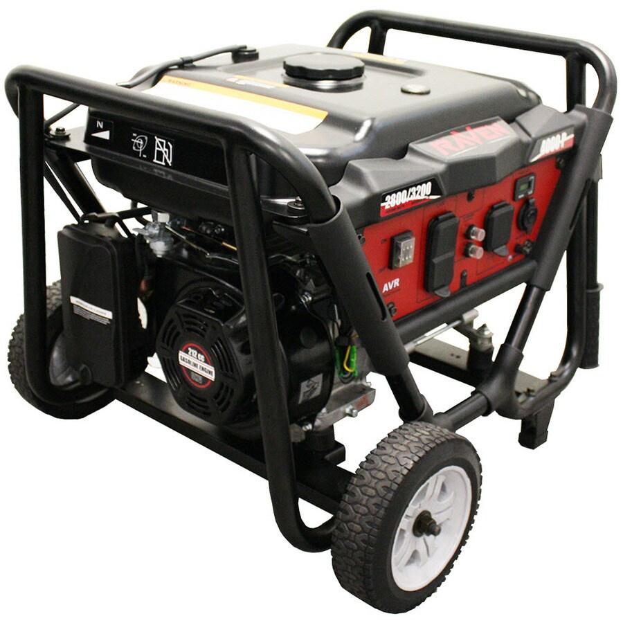 Raven 3,200-Running-Watt Portable Generator with Rato Engine