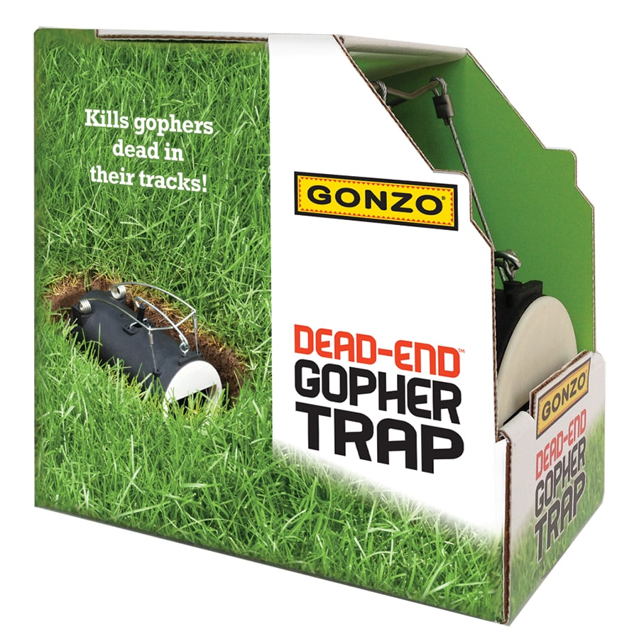 Gonzo Dead-End Disposable Gopher Trap