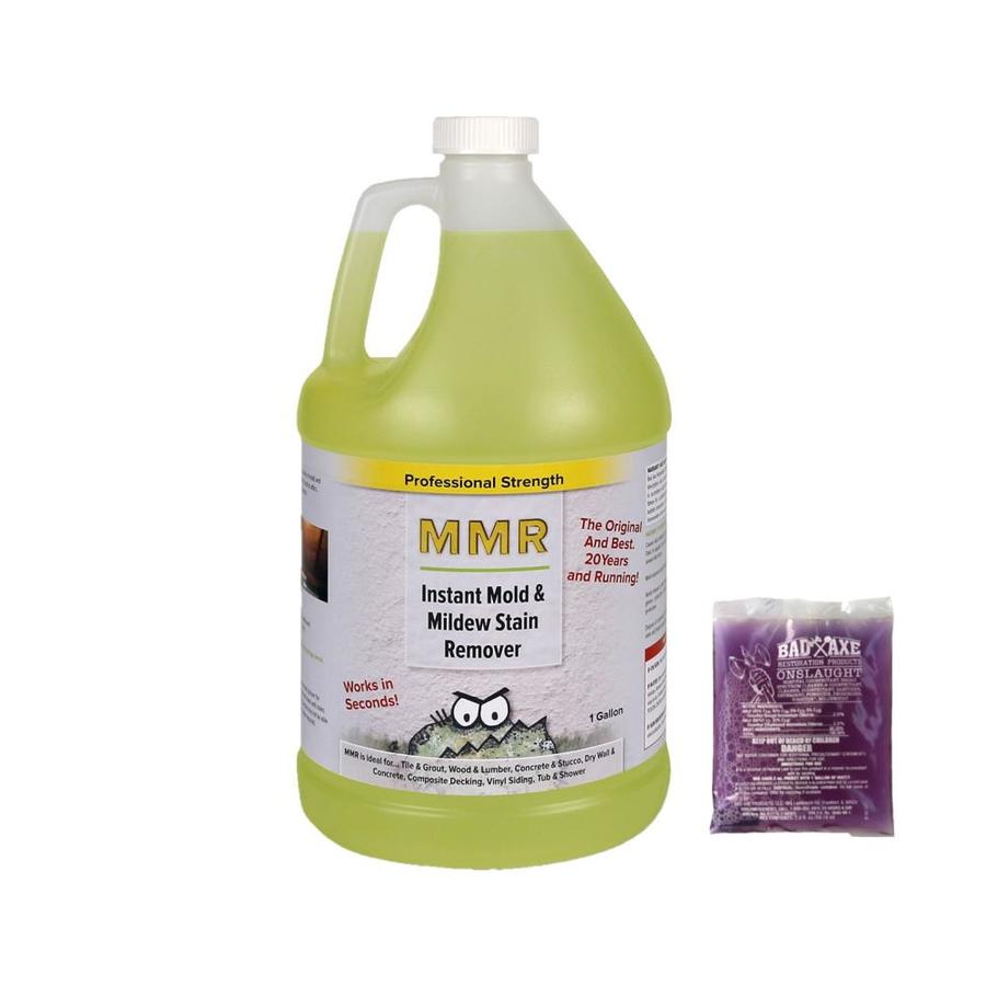 Mmr Professional 1 Gallon Instant Mold Mildew Stain Remover And 2 Oz Concentrate Makes Each Disinfectant