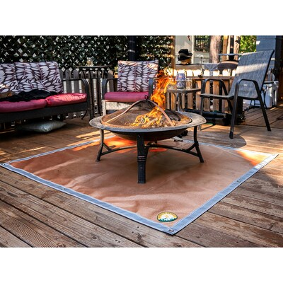 Fireside Outdoor Ground Ember Mat 60 In L X 0 125 In H Fire Pit Mat In The Fire Pit Mats Department At Lowes Com