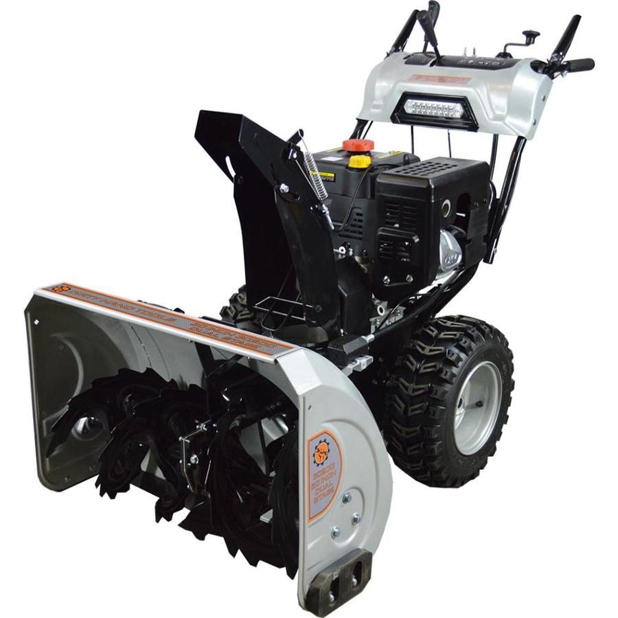 Dirty Hand Tools 302cc 30-in Two-Stage Electric Start Gas Snow Blower with Heated Handles and Headlights