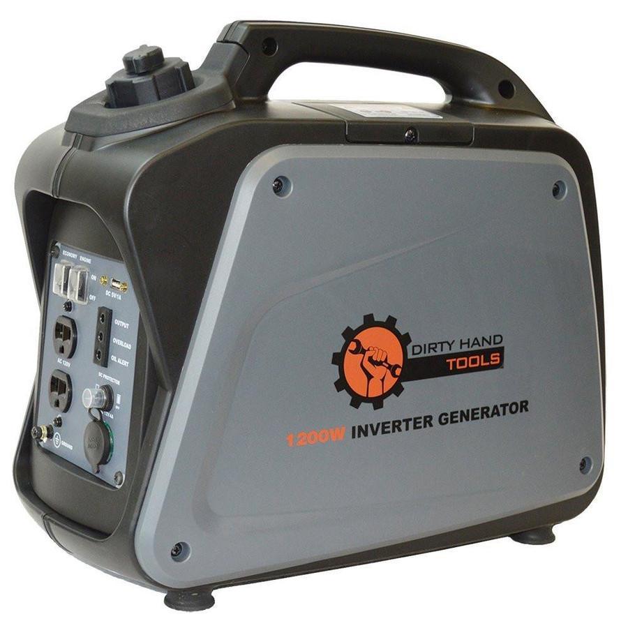 Dirty Hand Tools 1,000-Running-Watt Inverter Portable Generator with Oem Engine