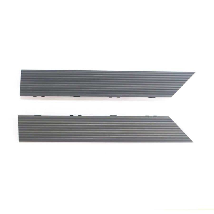 NewTechWood 1/6 ft. x 1 ft. Quick Deck Composite Deck Tile Outside Corner Trim in Westminster Gray (2-Piece/Box)