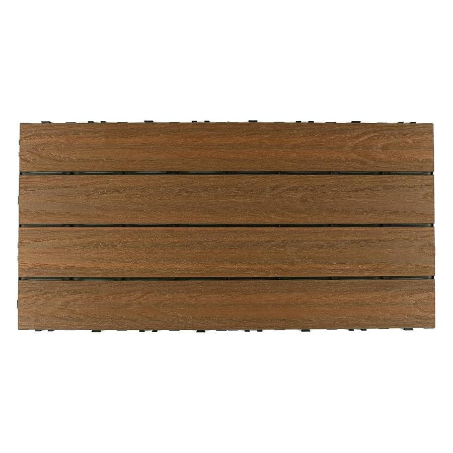 NewTechWood UltraShield Naturale 1 ft. x 2 ft. Quick Deck Outdoor Composite Deck Tile in Peruvian Teak (20 sq. ft. per box)