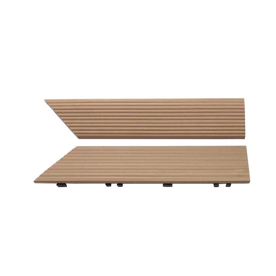 NewTechWood 1/6 ft. x 1 ft. Quick Deck Composite Deck Tile Inside Corner Trim in Canadian Maple (2-Piece/Box)