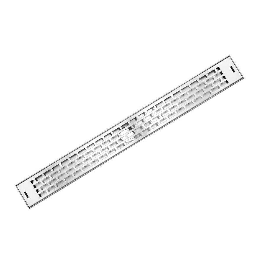 AQVA 26-in Stainless Steel Linear Shower Drain