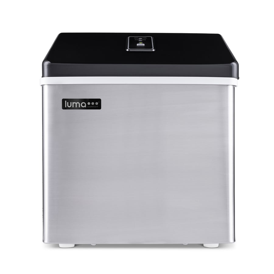 Luma Comfort 28-lb Portable Ice Maker (Stainless Steel and Black)