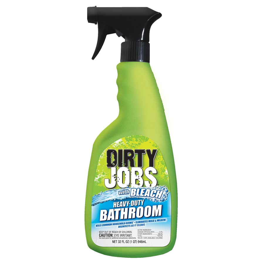 Bathroom Cleaner shop dirty jobs 32-oz spray multipurpose bathroom cleaner at lowes