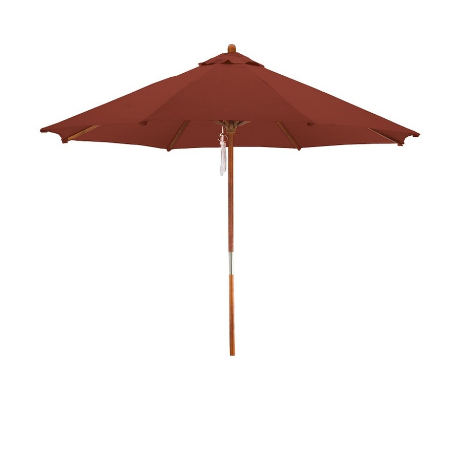 Lauren & Company Patio Umbrella (Common: 108-in W x 108-in L; Actual: 108-in W x 108-in L)