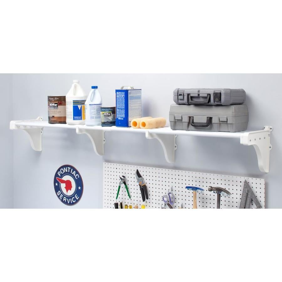 Ordinaire EZ Shelf 3.33 Ft To 10.2 Ft White Adjustable Mount Wire Shelving Kits