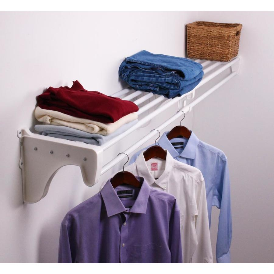 Shop EZ Shelf 3.33-ft To 6.17-ft White Adjustable Mount