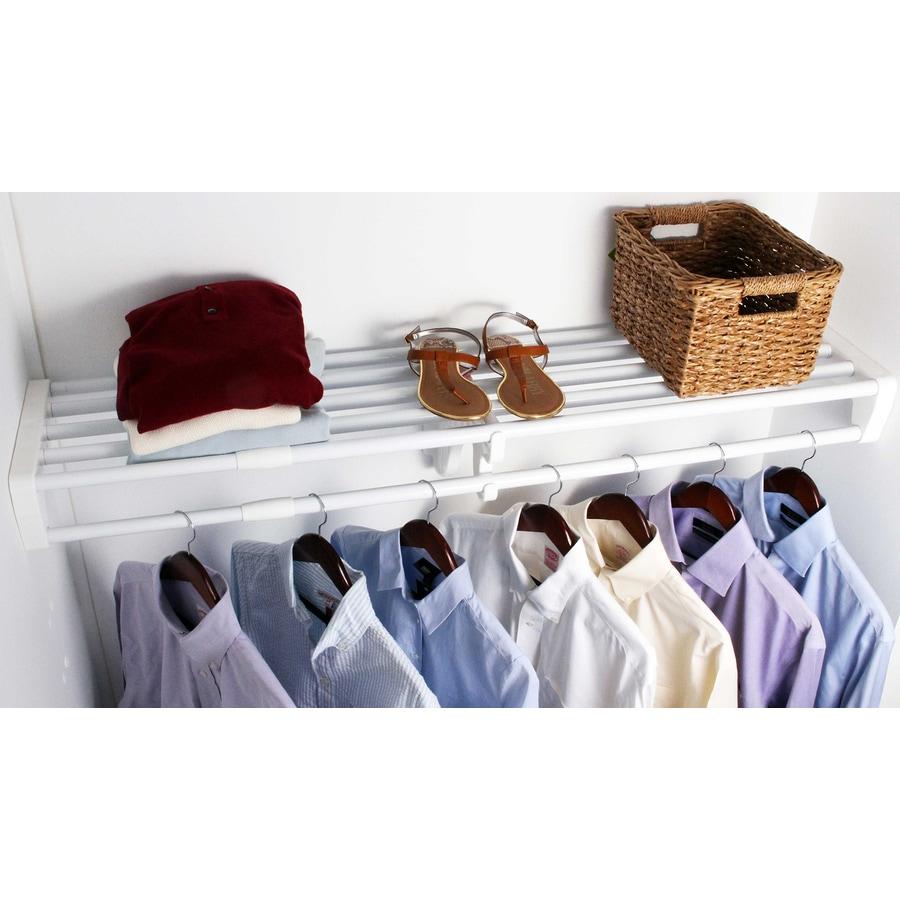 Shop Ez Shelf 3 33 Ft To 6 08 Ft White Adjustable Mount