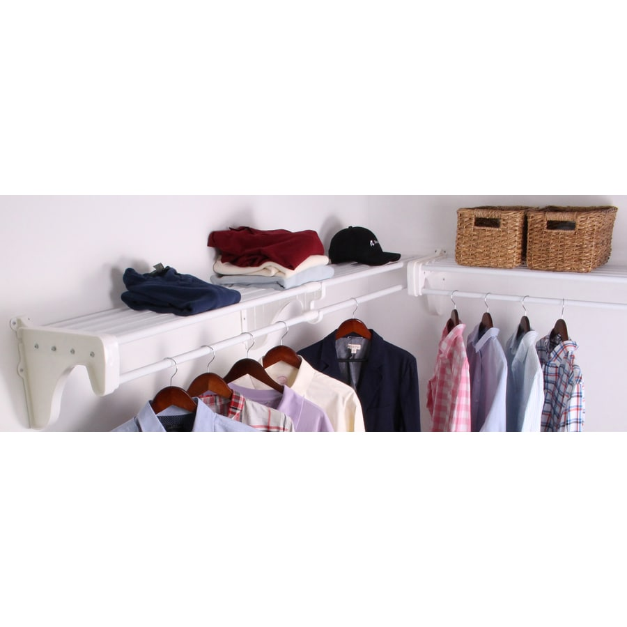 EZ Shelf 3.33-ft To 12.33-ft X 12-in White Wire Closet Kit