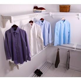 Ez Shelf 3 33 Ft To 30 8 X 12 In White Wire Closet