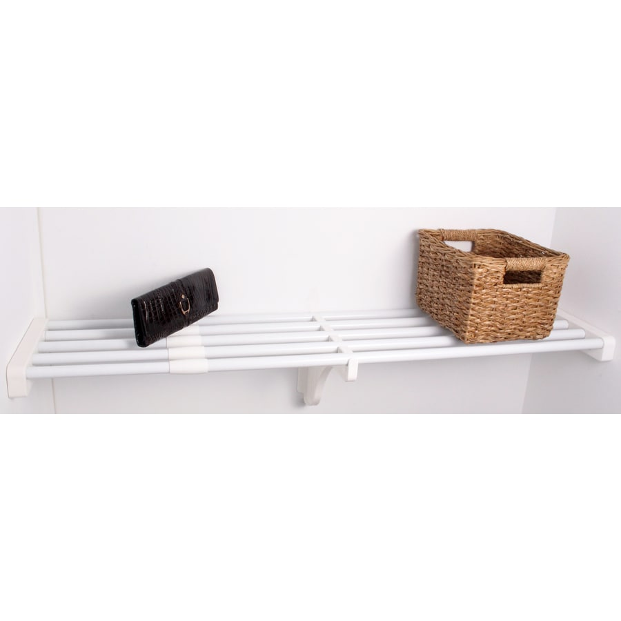 EZ Shelf 3.33-ft to 6.08-ft White Adjustable Mount Wire Shelving Kits