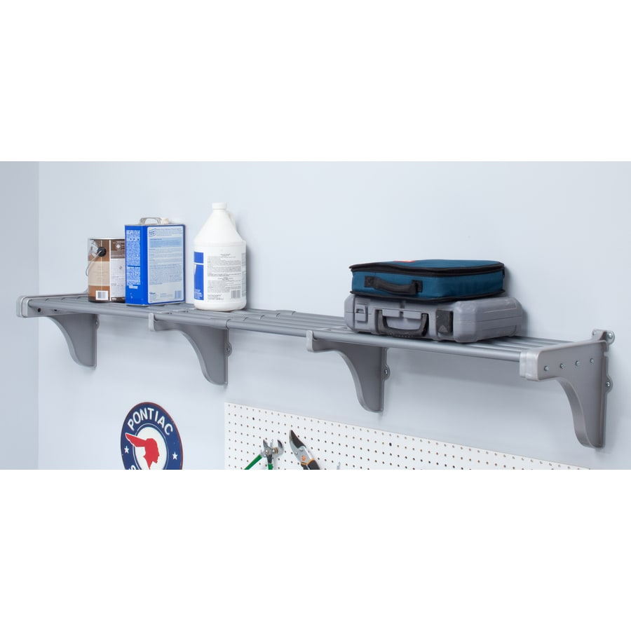 EZ Shelf 3.33-ft to 6.25-ft Silver Adjustable Mount Wire Shelving Kits
