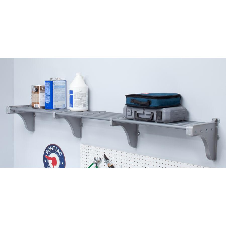 Shop EZ Shelf 3.33-ft to 6.25-ft Silver Adjustable Mount Wire ...