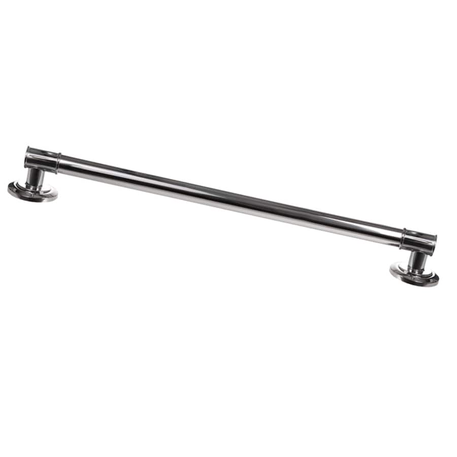 ARISTA Decorative Grab Bar 24-in Chrome Wall Mount Grab Bar