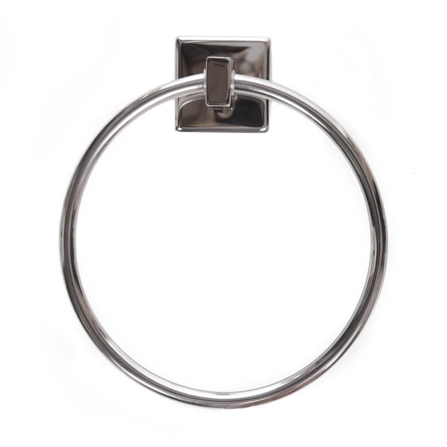 ARISTA Byrne Polished Stainless-Steel Wall-Mount Towel Ring