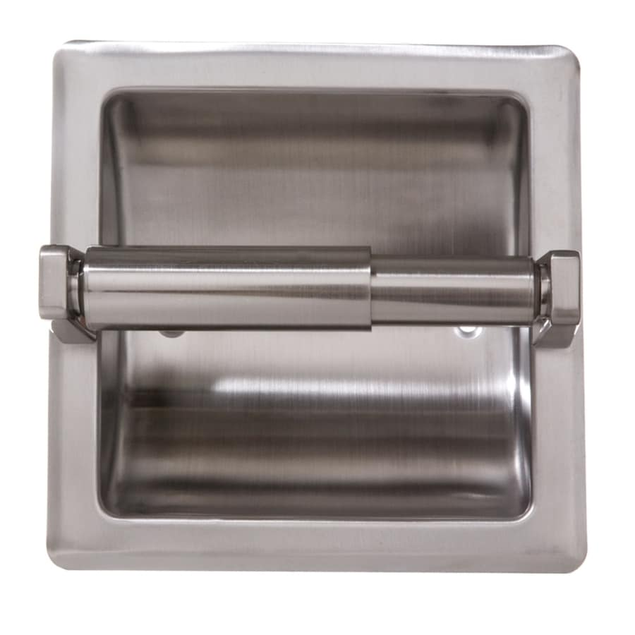 Arista Satin Nickel Recessed Spring Loaded Toilet Paper Holder At