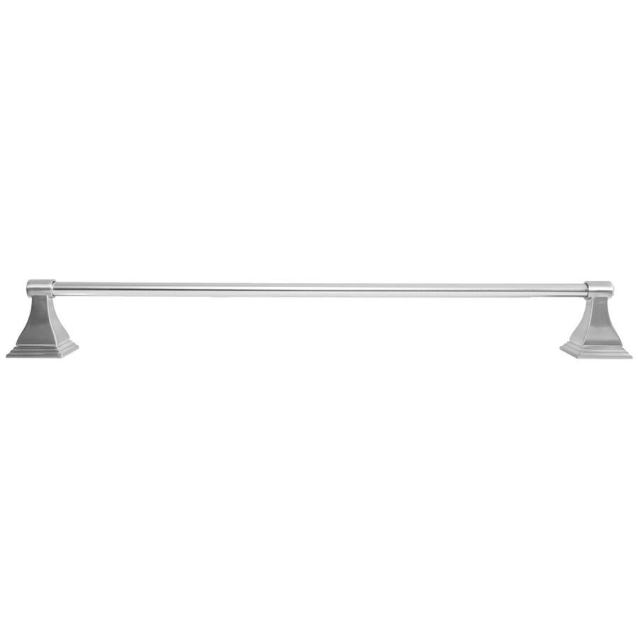 ARISTA Leonard Satin Nickel Single Towel Bar (Common: 24-in; Actual: 24-in)