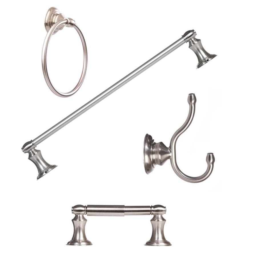 shop arista 4-piece highlander brushed nickel decorative bathroom