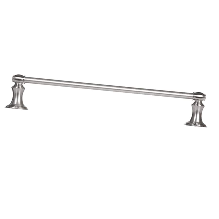 ARISTA Highlander Brushed Nickel Single Towel Bar (Common: 24-in; Actual: 24-in)