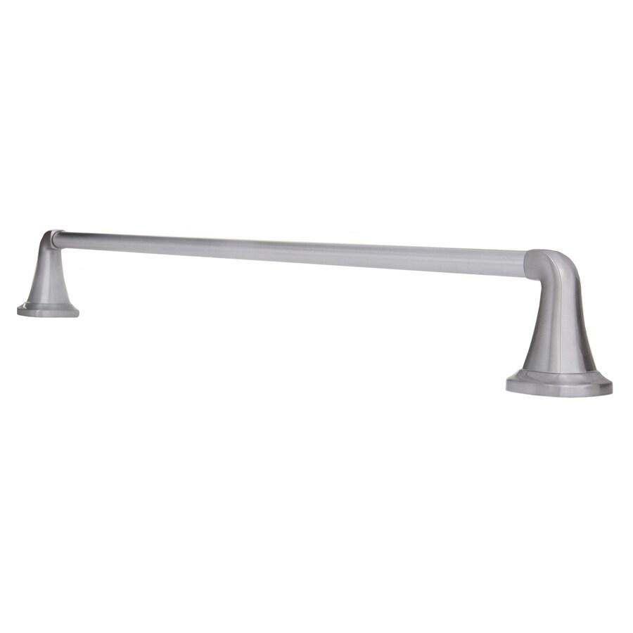 ARISTA Belding Satin Nickel Single Towel Bar (Common: 24-in; Actual: 26-in)