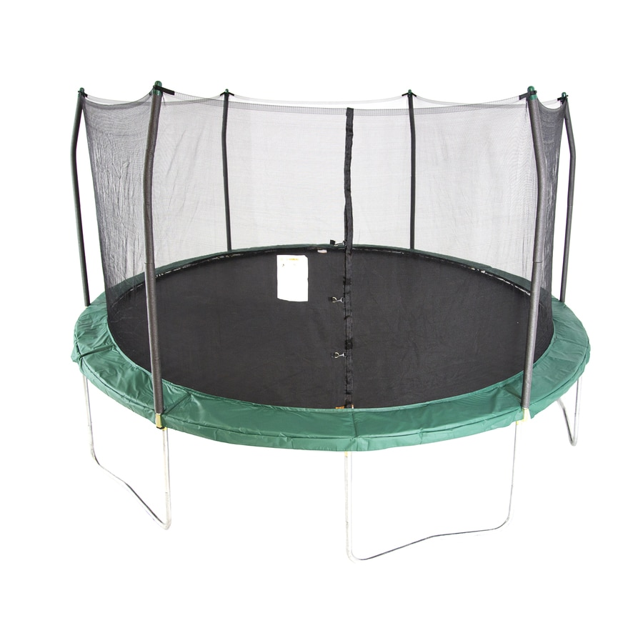 Skywalker Skywalker 15-ft Round Green Backyard Trampoline with Enclosure