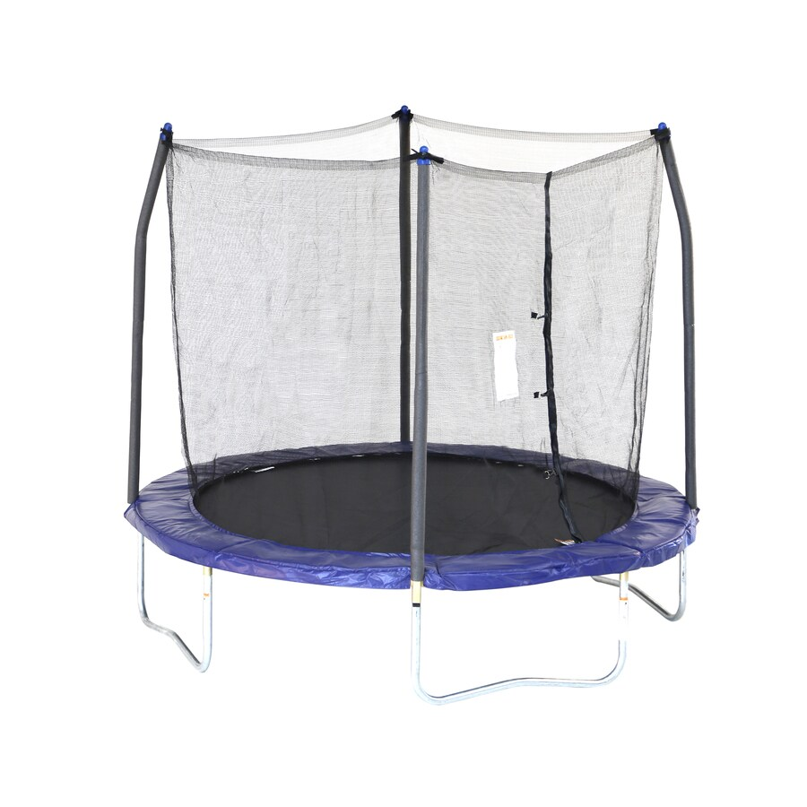 Skywalker 8 Ft Round Blue Backyard Trampoline With