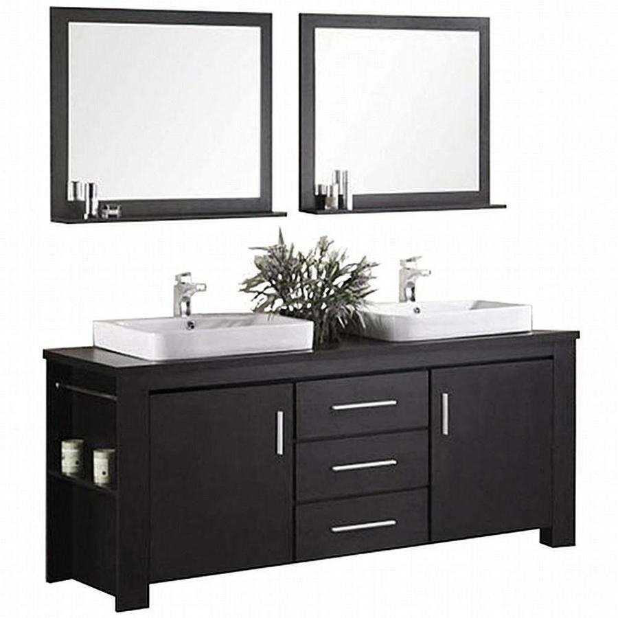 Design element washington 71 in espresso double sink - Espresso double sink bathroom vanity ...