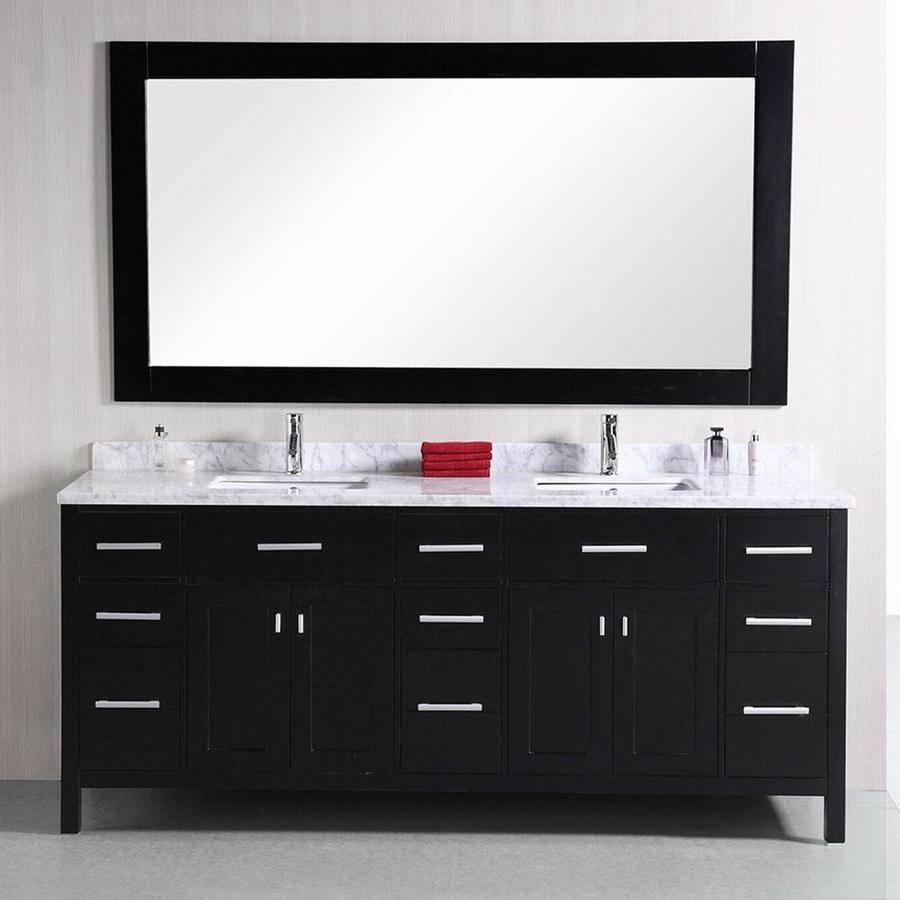 Design Element London 78 In Espresso Double Sink Bathroom Vanity