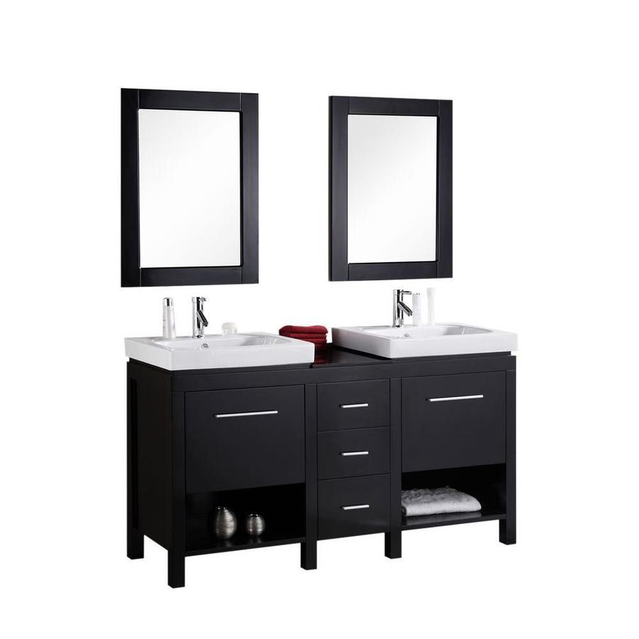 Design Element New York 60 In Espresso Double Sink