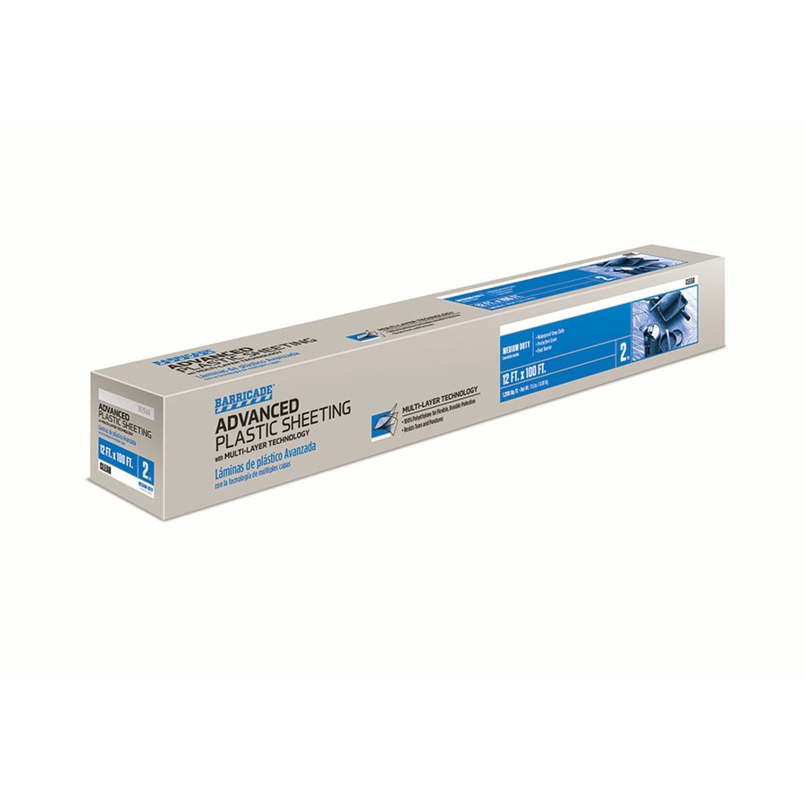 BARRICADE 12-ft x 100-ft x 2-mil Clear Consumer Sheeting