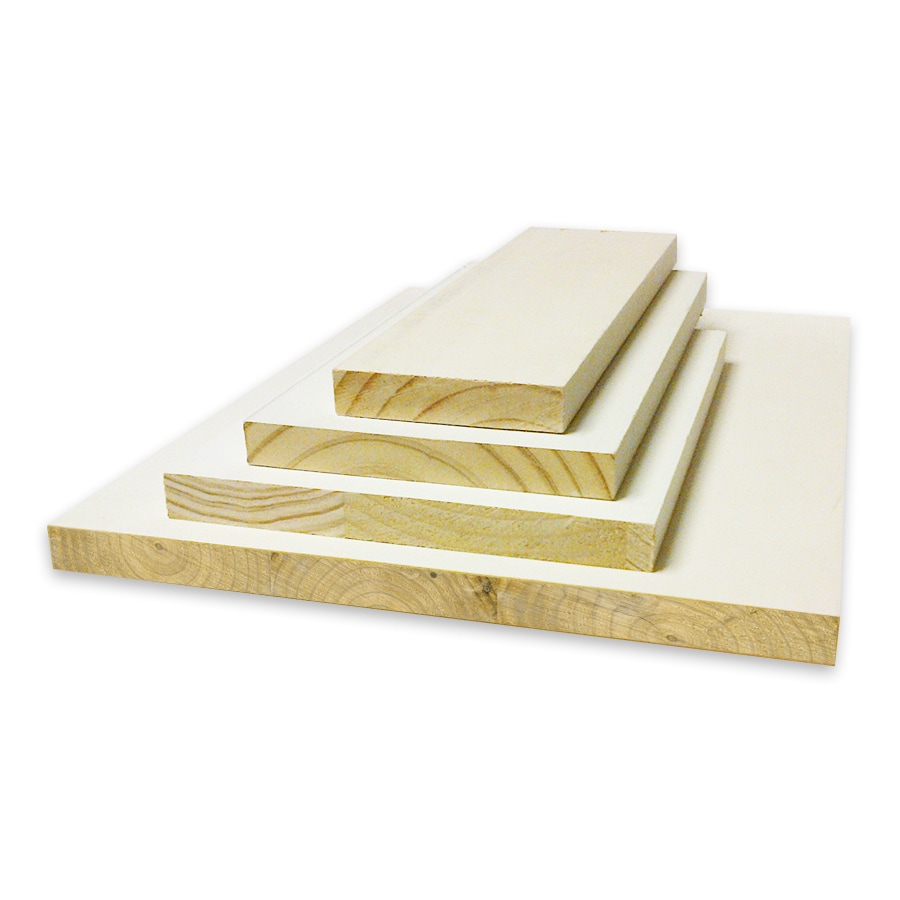 (Common: 1-in x 4-in x 12-ft; Actual: 0.75-in x 3.5-in x 12-ft) Primed Pine Board