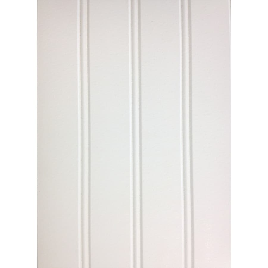 7.24-in x 2.66-ft Double Bead White Pine MDF Wainscoting Wall Panel