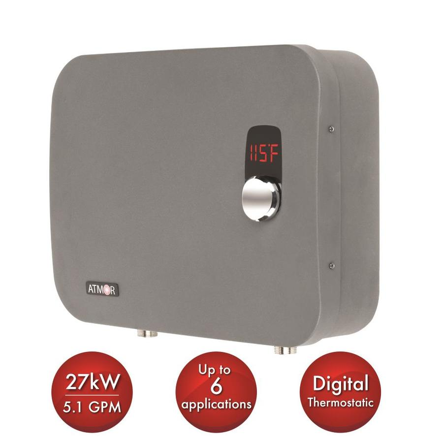shop atmor thermopro series 240 volt 27 kilo watt 5 1 gpm tankless electric water heater at. Black Bedroom Furniture Sets. Home Design Ideas