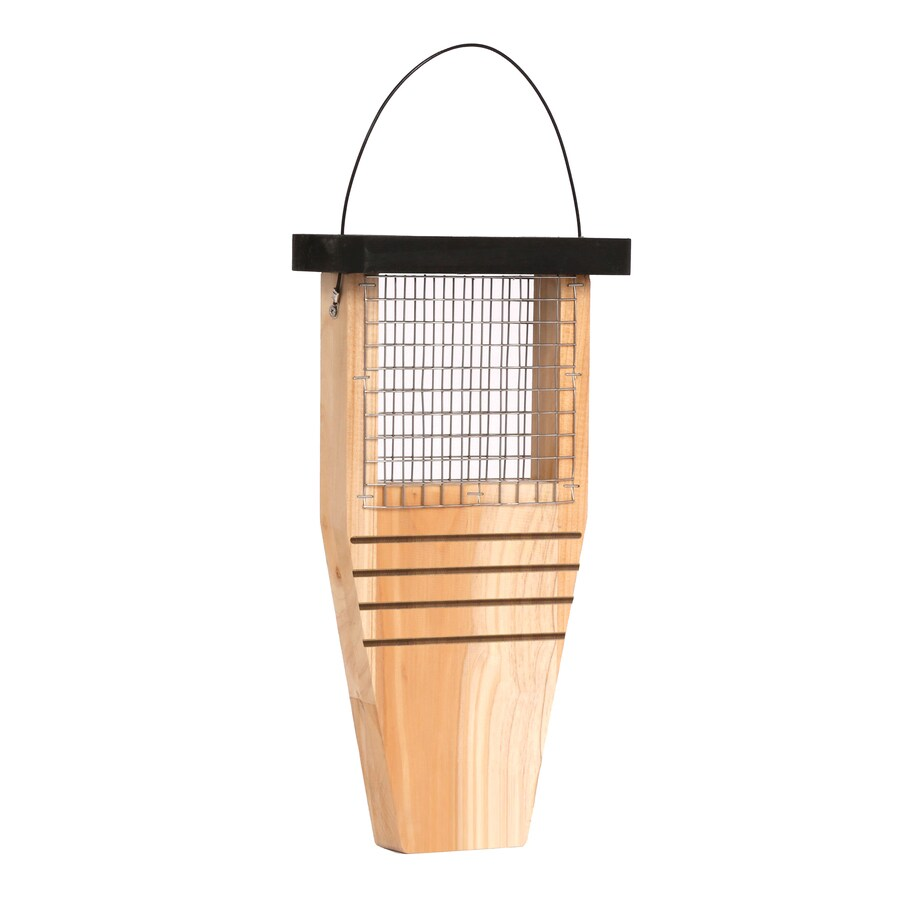 Garden Treasures Natural Cedar One-Cake Cedar Suet Feeder