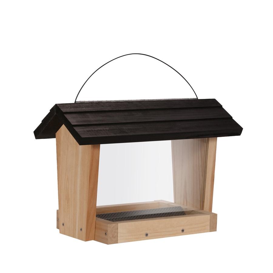 Garden Treasures Natural Cedar Hopper Bird Feeder
