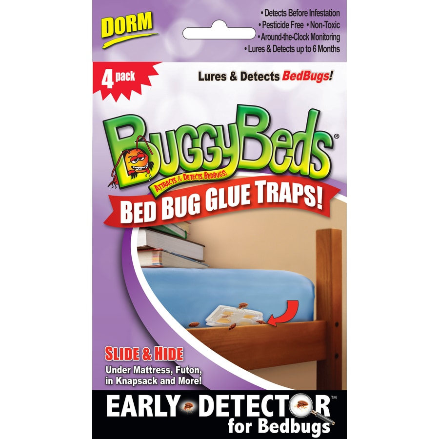 BuggyBeds Bed Bug 4-Count Disposable Glue Traps