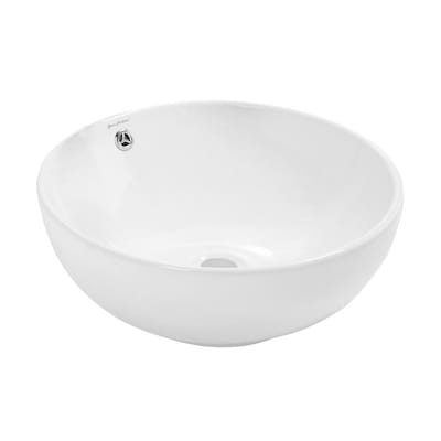 Swiss Madison Sublime Glossy White Porcelain Vessel Round