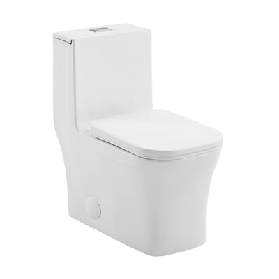 Excellent Concorde Glossy White Dual Flush Square Comfort Height Toilet 12 In Rough In Size Forskolin Free Trial Chair Design Images Forskolin Free Trialorg