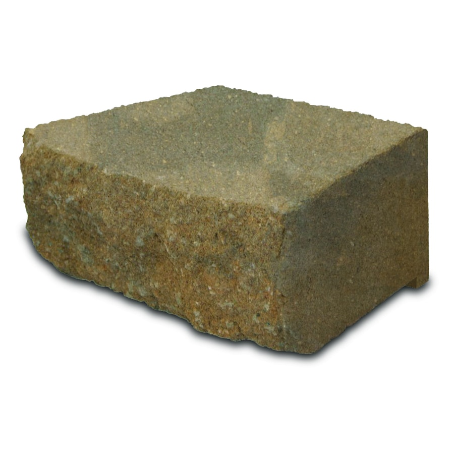 Southwest Blend Retaining Wall Block (Common: 4-in x 12-in; Actual: 4-in x 11.5-in)