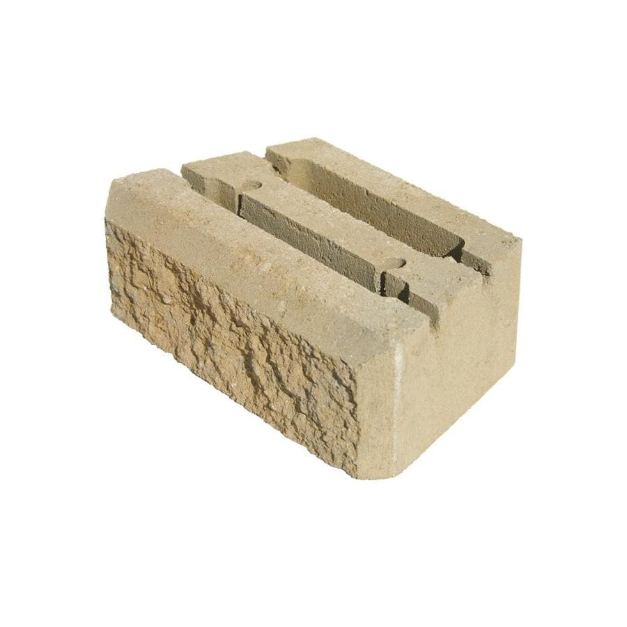 Insignia Tan Retaining Wall Block (Common: 4-in x 12-in; Actual: 4-in x 12-in)