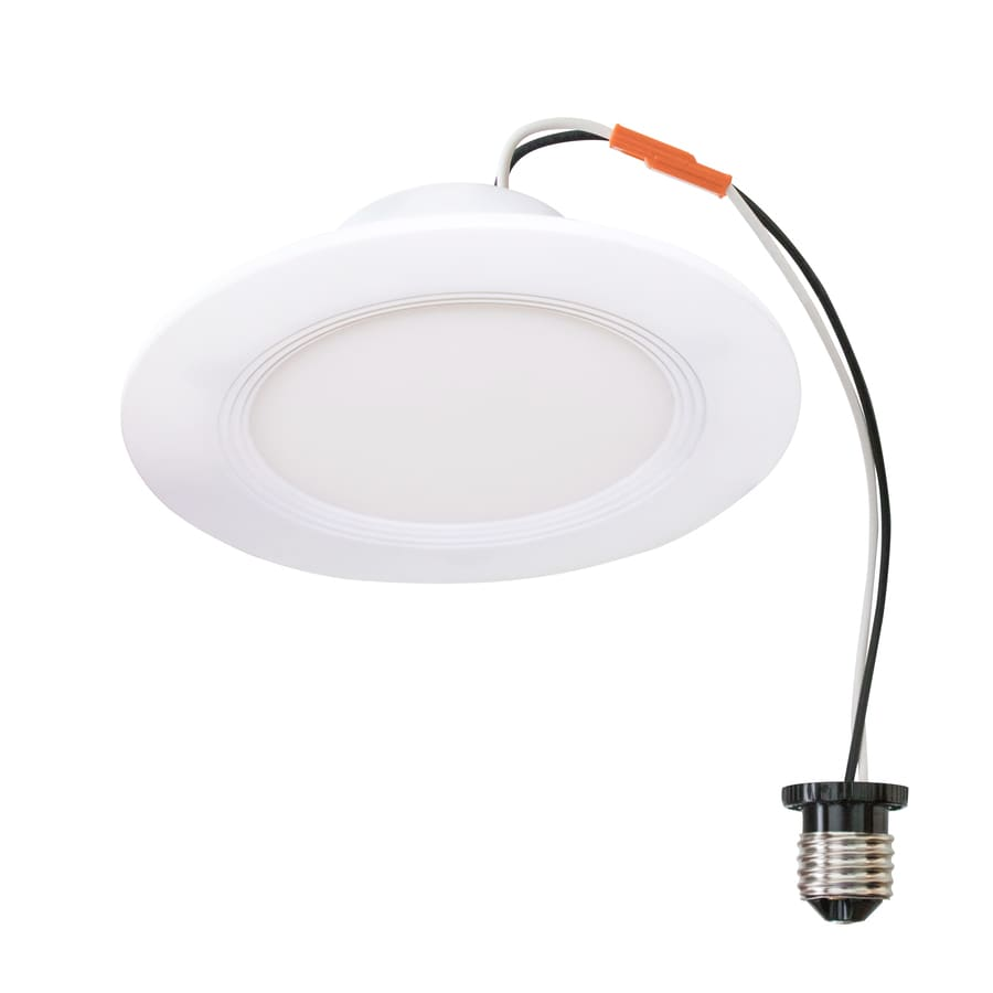 Utilitech 4 In White Integrated Led Remodel Recessed Light: (5-Pack) Utilitech 50W Equivalent White Dimmable LED