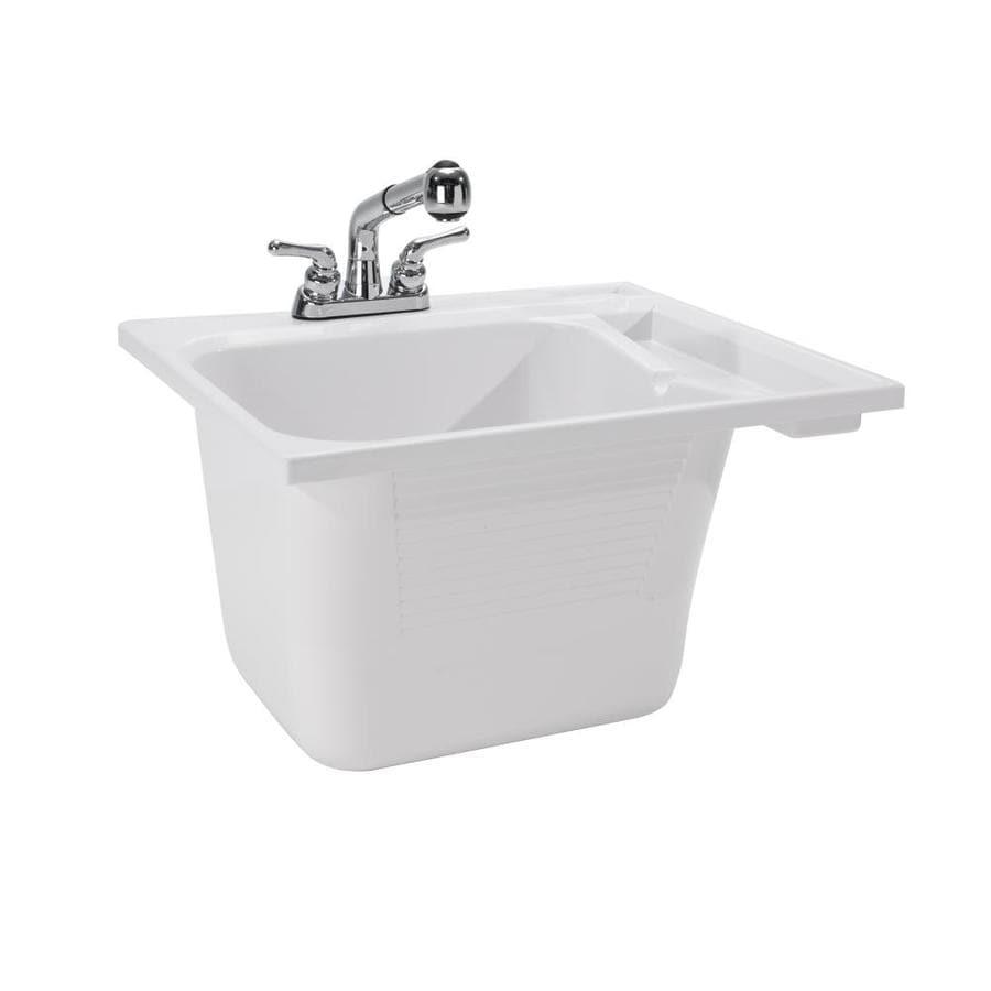 Cashel 25 0 X 22 White Self Abs Plastic Utility Tub Sink With Drain