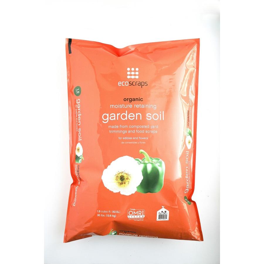 EcoScraps 1.5 Cu Ft Organic Flower And Vegetable Garden Soil