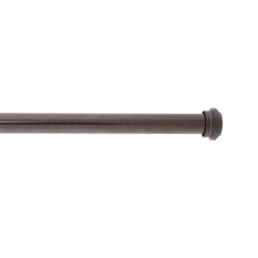 Allen Roth Bronze 36 In To 72 Steel Single Curtain Rod