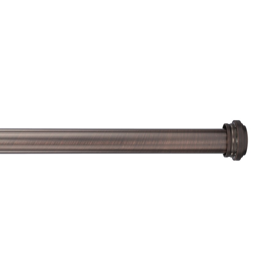 allen + roth Bronze 72-in to 144-in Oil Rubbed Bronze Steel Single Curtain Rod